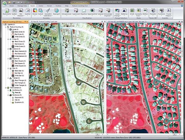 Sledování změn obrazu s pomocí ERDAS IMAGINE 2011