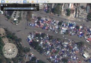 Haiti v prostředí Google Earth
