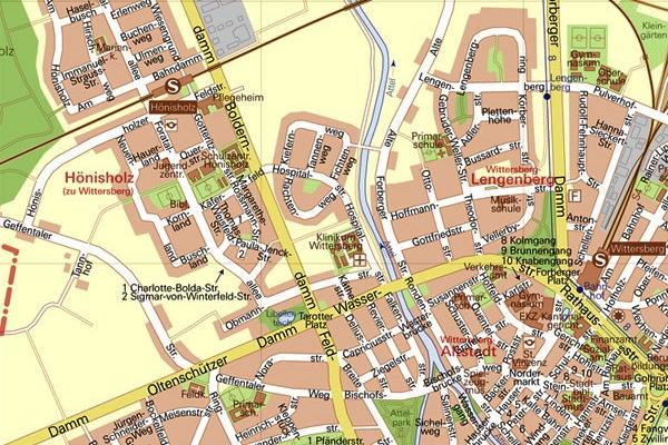 Wittersberg sice reálně neexistuje, ale plán města vypadá velmi skutečně. Které město vám připomíná?