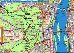 Cyklisticka mapa Prahy