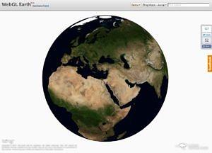 Ukázka aplikace WebGL Earth