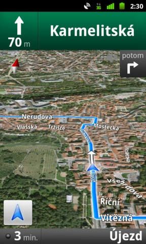google-mapy-navigace-satellite-view