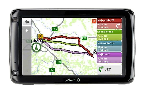 """Mio představuje nový a nejvyšší model navigace z nové řady - Mio Spirit 697 Lifetime Truck, který je již ve standardní výbavě nabízí speciální Režim nákladního vozu/karavanu. Nová 5"""" navigace disponuje novými funkcemi pro rok 2012, které zpříjemní její každodenní užívání a díky AV konektoru k ní lze připojit i přijímač bezdrátové parkovací kamery Mio."""