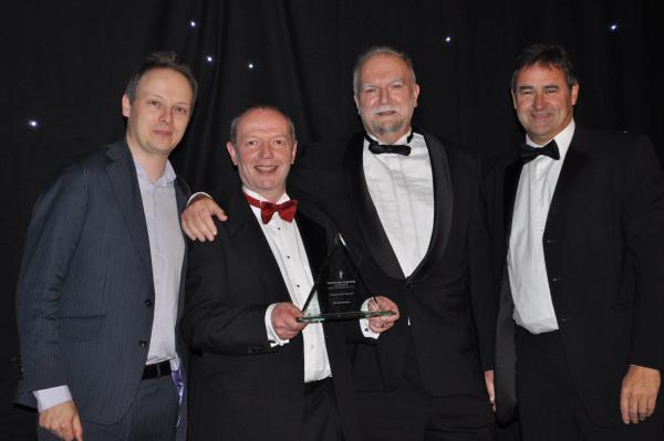 Upřímná radost oceněných v soutěži Construction Computing Awards 2013