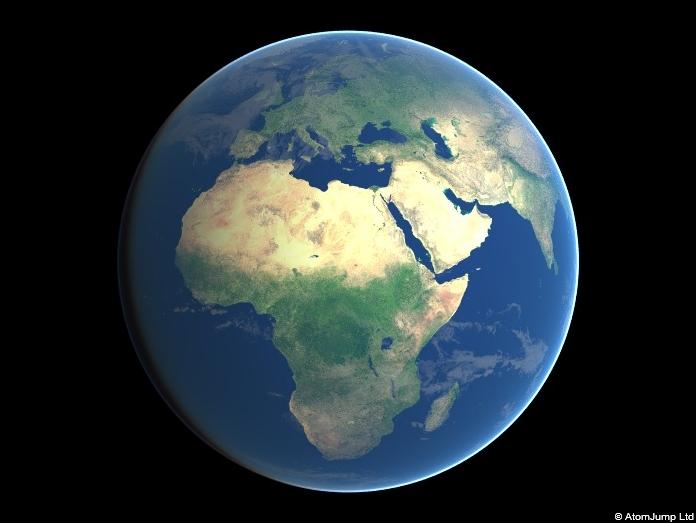Jednoduchá ukázka 3D Earth od britské firmy AtomJump. Nemusíte instalovat vůbec nic, vše se zobrazuje přímo na webové stránce.