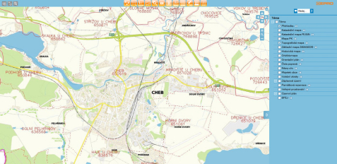 Ukázka webového prostředí MISYS-WEB, tentokrát na webu města Cheb, které je jedním z celé řady uživatelů
