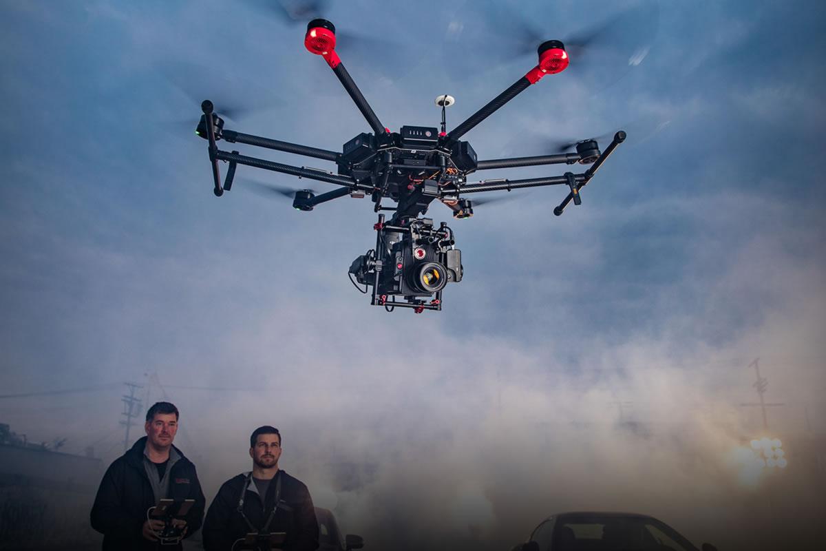 dron DJI Matrice 600 na Veletrhu vědy (časopis GeoBusiness)