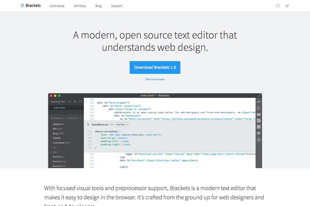 editor Brackets od Adobe Systems (časopis GeoBusiness)