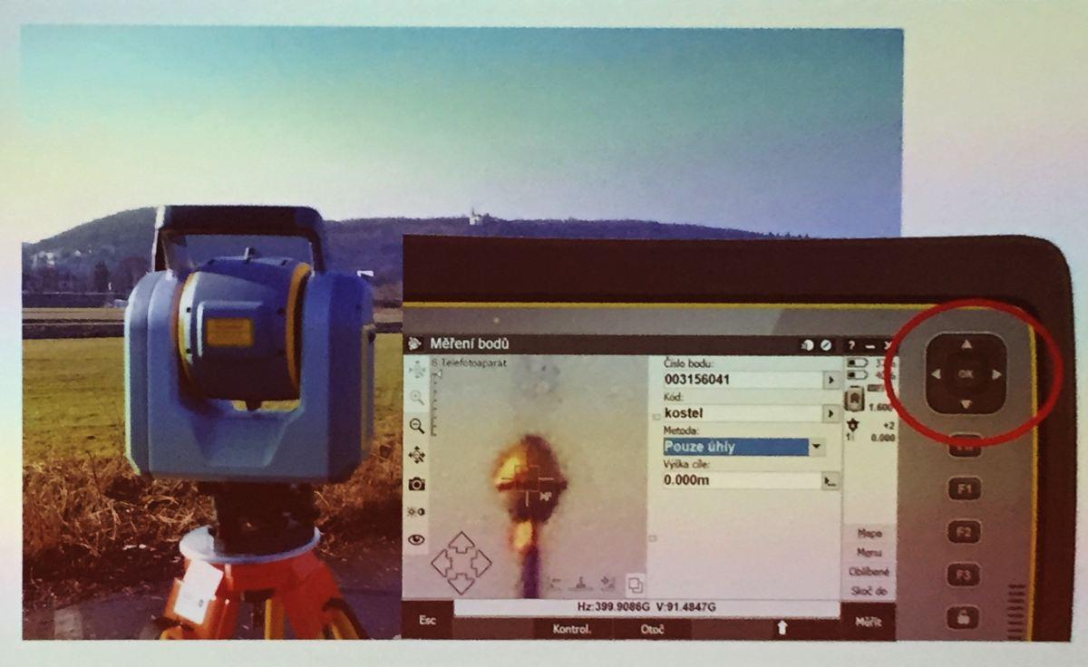 Trimble SX10 ukázka přesného cílení pomocí telekamery (časopis GeoBusiness)