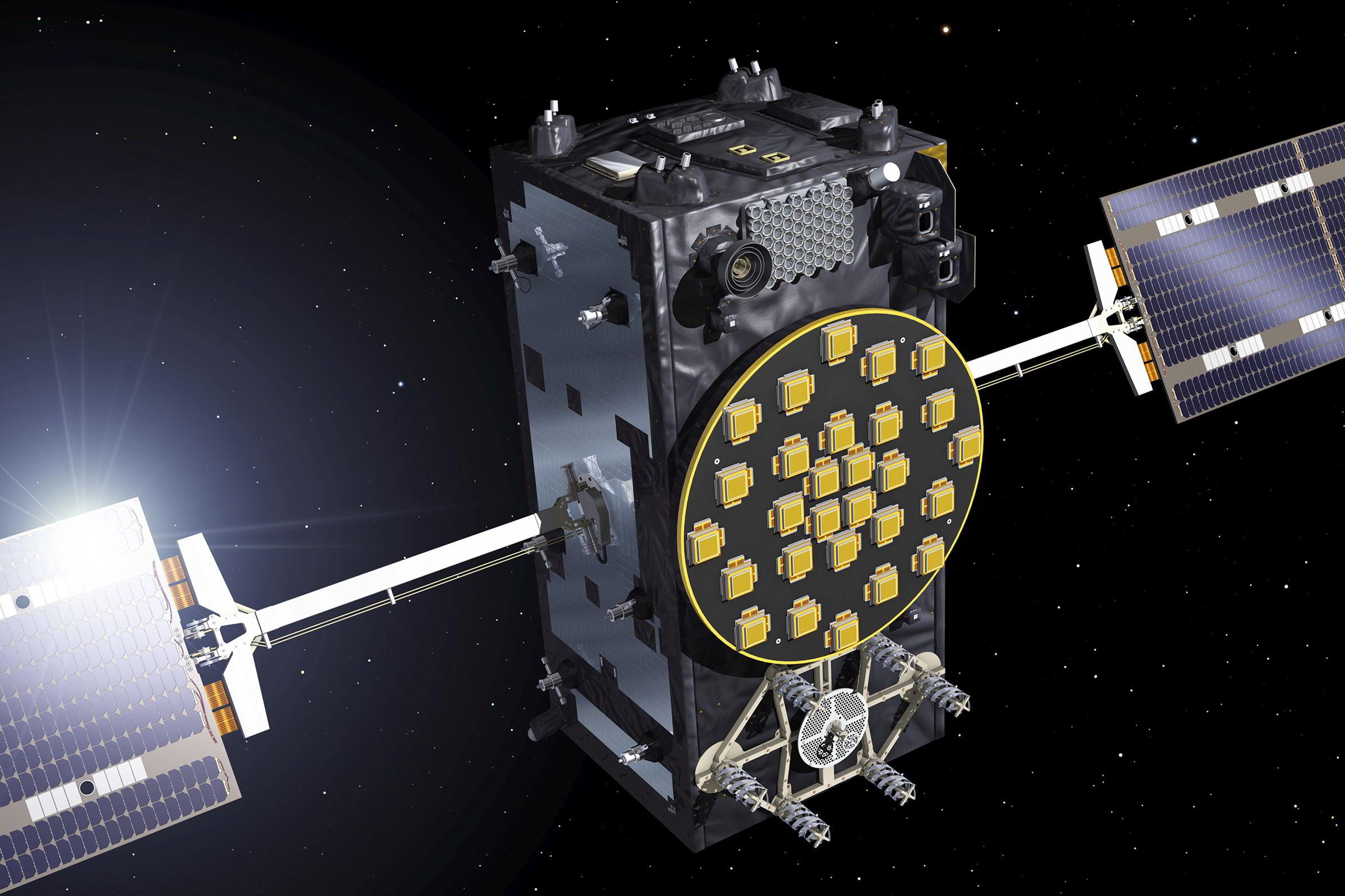Satelit Galileo / vizualizace ESA