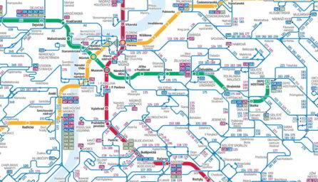 výřez dopravního schématu v Praze / Geobusiness