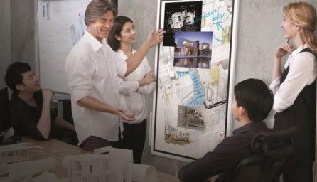 Samsung Flip - digital whiteboard / GeoBusiness
