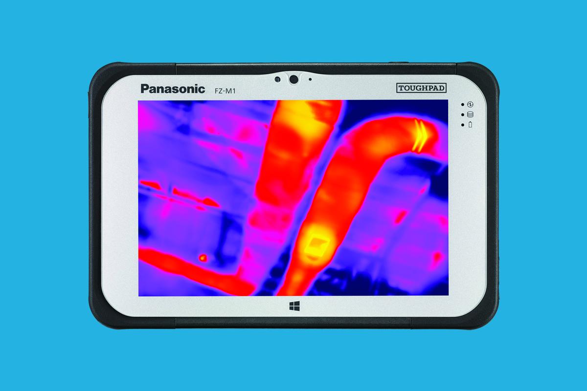 odolný tablet Panasonic Toughpad FZ-M1, termokamera Flir