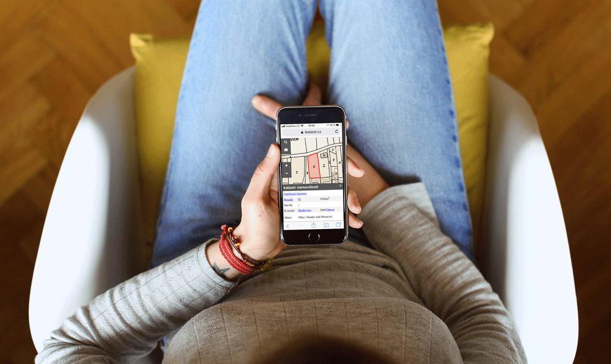 mobilní verze iKatastr.cz / GeoBusiness