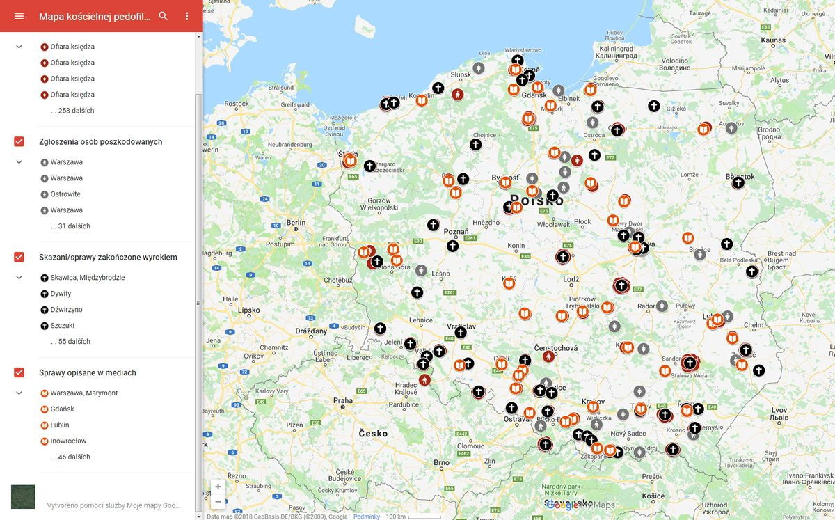 Pedofilie církevních hodnostářů v Polsku / GeoBusiness