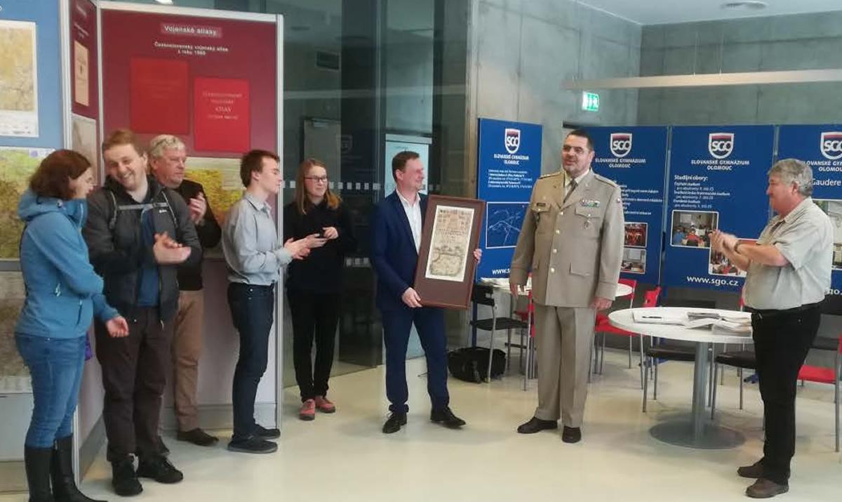 výstava vojenských map, Olomouc / foto Alena Vondráková / GeoBusiness