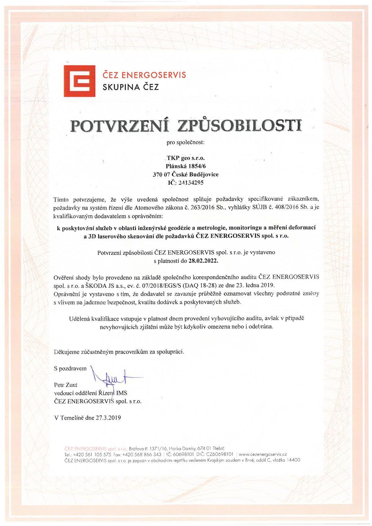 tkp-geo-certifikat-CEZ-Energoservis-2019-2022 / GeoBusiness